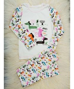 Детская пижама (кофта и штаны) из интерлока для девочек (мальчиков) OBABY (396-110), , 396-110, OBABY, Детские товары