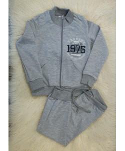 Детский спортивный костюм (штаны и кофта на молнии) из двунитки для девочек (мальчиков) OBABY (571-117-1), 19494, 571-117-1, OBABY, Товары для новорожденных