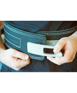 Пояс для пауэрлифтинга (штангиста) с карабином кожаный, 3 слоя Onhillsport S (OS-0401-1), 00-00007364, OS-0401-1, Onhillsport, Атлетический пояс