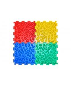 Детский массажный ортопедический коврик пазл для стоп Ортек 20466 в коробке, 4 элемента, 14426, 20466, Ортек, Ортопедические коврики