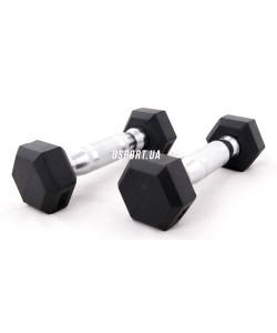 Гантели металлические для фитнеса OSPORT 1 кг (MS 0113), , MS 0113, OSPORT, Гантели для фитнеса
