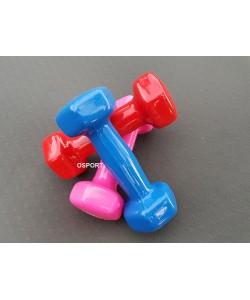Гантели для фитнеса виниловые цельные (неразборные) OSPORT Profi 0.5 кг (FI-0105-1), , FI-0105-1, OSPORT, Гантели для фитнеса