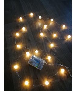 Гирлянда новогодняя (украшение на елку) на батарейках светодиодная на 20 ламп для дома Yellow Stenson (R28275), 20497, R28275, Stenson, Разные товары для дома