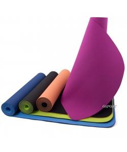 Коврик для йоги и фитнеса (йога мат) OSPORT TPE+TC 183х61см, 6мм