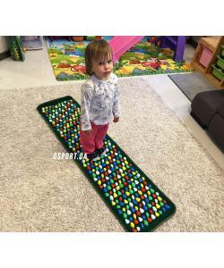 Массажный (ортопедический) коврик дорожка для детей с камнями Морской берег 150*40cm (FI-0130), , FI-0130, OSPORT, Товары для красоты и здоровья