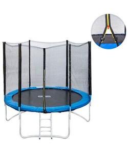Большой батут для дома с защитной сеткой для взрослых и детей профессиональный OSPORT диаметр 244 см (MS 0496), 20265, MS 0496, OSPORT, Батуты с сеткой