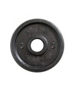 Металлический блин (диск чугунный) для гантели (штанги) под гриф 25мм OSPORT 3 кг (OF-0039), 13323, OF-0039, OSPORT, Штанги