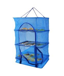 Сетка для сушки рыбы (сушилка для фруктов, овощей) трехъярусная 30х30х60см Stenson (SF23636), 20154, SF23636, Stenson, Аксессуары для рыбалки