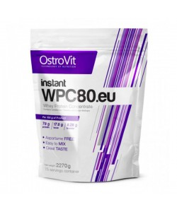 Концентрат сывороточно-белковый instant протеин WPC80.eu порошок 2.27кг OstroVit (08389-01), , 08389-01, OstroVit, Спортивное питание