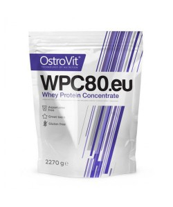 Концентрат сывороточно-белковый протеин WPC80.eu порошок 2.27кг OstroVit (08401-07), 19263, 08401-07, OstroVit, Протеин