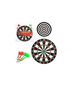 Спортивная двусторонняя игра Дартс MS 0095 Profi, 14771, MS 0095, Profi, Дартс