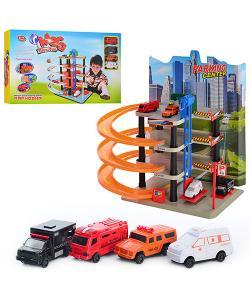 Гараж детский (паркинг) многоярусный с машинками Play Smart (0848), , 848, Play Smart, Детские игрушки