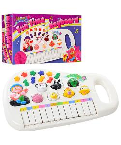 Пианино детское со звуко и светоигрой на батарейках Profi (M 0381 U/R), , M 0381 U/R, Profi, Музыкальные игрушки