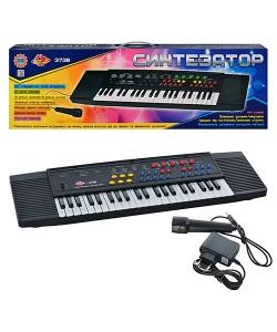 Электронный синтезатор (пианино) с микрофоном Metr Plus (SK 3738), , SK 3738, Metr Plus, Детские игрушки