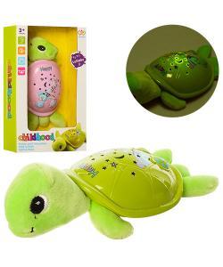 Ночник детский черепаха с проекцией ночного неба 19см Profi (JLD-22AB), , JLD-22A, Profi, Музыкальные игрушки