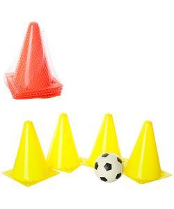 Фишка (конус) барьер тренировочный 4шт и мяч Profi (M 1059), , M 1059, Profi, Детские мячи