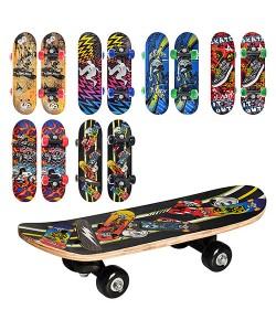 Скейт (скейтборд) детский деревянный для трюков 43х13см Profi (MS 0324-1), , MS 0324-1, Profi, Детские товары