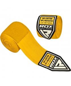 Бинты боксерские RDX Fibra Yellow 4.5m, 10406, 10406, RDX, Боксерские бинты