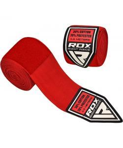 Бинты боксерские RDX Fibra Red 4.5m, 10405, 10405, RDX, Боксерские бинты
