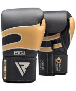 Боксерские перчатки RDX Leather Black Gold 40249, , 40249, RDX, Боксерские перчатки