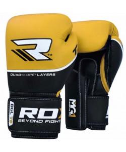 Боксерские перчатки RDX Quad Kore Yellow, , 10126, RDX, Боксерские перчатки
