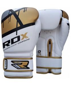 Боксерские перчатки RDX Rex Leather Gold/Red, , 10122,10128, RDX, Боксерские перчатки