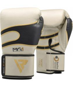 Боксерские перчатки кожаные перламутрово-белые RDX (40247), , 40247, RDX, Боксерские перчатки