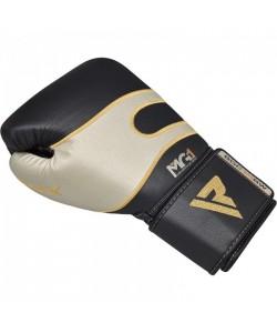 Боксерские перчатки кожаные черно-белые RDX (40248), , 40248, RDX, Боксерские перчатки