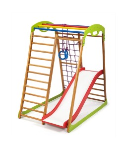 Детский спортивный комплекс 132х85х130см SportBaby (BabyWood Plus 1), , BabyWood Plus 1, SportBaby, Детский спортивный уголок (комплекс)