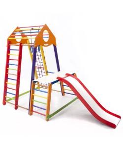 Детский спортивный комплекс 132х130х170см SportBaby (BambinoWood Color Plus 1-1), , BambinoWood Color Plus 1-1, SportBaby, Детский спортивный уголок (комплекс)