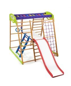 Детский спортивный комплекс 132х124х130см SportBaby (Карамелька Plus 2), , Карамелька Plus 2, SportBaby, Детский спортивный уголок (комплекс)