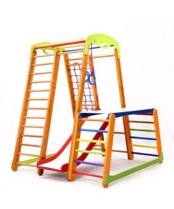 Детский спортивный комплекс 130х130х150см SportBaby (Кроха-2 Plus 1-1), 19887, Кроха-2 Plus 1-1, SportBaby, Детский спортивный уголок (комплекс)