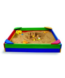 Детская песочница 1,45х1,45м SportBaby (Песочница-1), 19785, Песочница-1, SportBaby, Детские игровые комплексы
