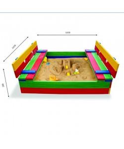 Детская песочница 1,45х1,45м со скамейками SportBaby (Песочница-11), 19794, Песочница-11, SportBaby, Детские игровые комплексы