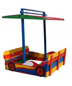 Детская песочница Машинка 1,45х1,45м с навесом и крышкой SportBaby (Песочница-12), , Песочница-12, SportBaby, Детские игровые комплексы