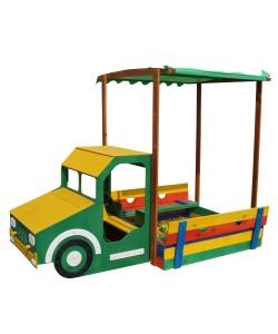 Детская песочница Грузовик 2,6х1,45м SportBaby (Песочница-16), , Песочница-16, SportBaby, Детские игровые комплексы