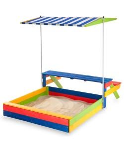 Детская песочница 1,45х1,45м со столиком SportBaby (Песочница-20), 19800, Песочница-20, SportBaby, Детские игровые комплексы