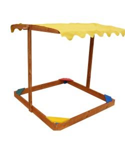 Детская песочница Sahara 1,45х1,45м с навесом SportBaby (Песочница-21), , Песочница-21, SportBaby, Детские игровые комплексы