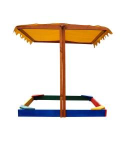 Детская песочница 1,45х1,45м с навесом SportBaby (Песочница-23), 19807, Песочница-23, SportBaby, Детские игровые комплексы