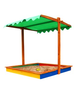 Детская песочница 1,45х1,45м с навесом SportBaby (Песочница-24), 19804, Песочница-24, SportBaby, Детские игровые комплексы