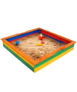 Детская песочница 1,45х1,45м SportBaby (Песочница-25), 19808, Песочница-25, SportBaby, Детские игровые комплексы