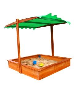 Детская песочница 1,45х1,45м с навесом SportBaby (Песочница-27), , Песочница-27, SportBaby, Детские игровые комплексы