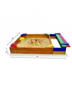 Детская песочница 1,8х1,45м с сидением SportBaby (Песочница-6), 19795, Песочница-6, SportBaby, Детские игровые комплексы