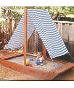 Детская песочница Кораблик 2х1,5м SportBaby (Песочница-8), , Песочница-8, SportBaby, Детские игровые комплексы