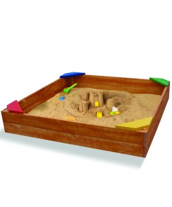 Детская песочница 1,45х1,45м SportBaby (Песочница-9), 19799, Песочница-9, SportBaby, Детские игровые комплексы