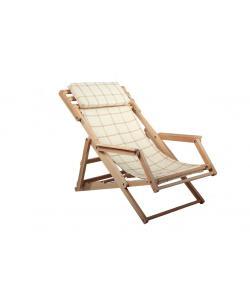 Кресло-шезлонг складное с подлокотниками SportBaby (Шезлонг-2), 20024, Шезлонг-2, SportBaby, Садовая мебель