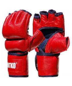 Битки с открытыми пальцами кожаные Sportko (ПК-5), 18019, ПК-5, Sportko, Перчатки для рукопашного боя, каратэ
