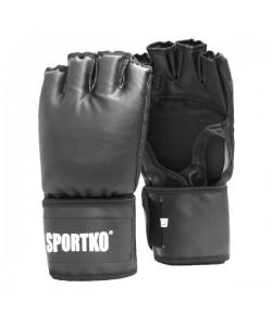 Битки с открытыми пальцами из кожвинила Sportko (ПД-5), 18022, ПД-5, Sportko, Перчатки для рукопашного боя, каратэ