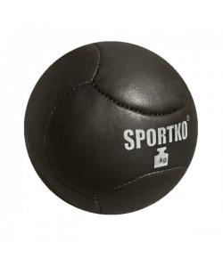 Мяч Медбол из кожи Sportko 9 - 12 кг (МячКож9-12)