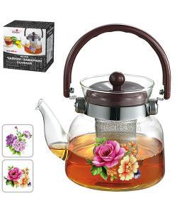 Чайник (заварник) для чая стеклянный 800мл Stenson (MS-0132), 20448, MS-0132, Stenson, Товары для кухни